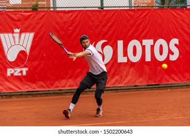 Szczecin / Poland - September 10th 2019: PEAKO Szczecin Open ATP Challenger Tour tennis tournament - Julian Lenz vs. N.Sanchez round 1