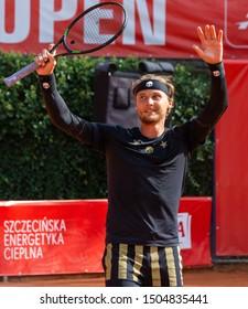 Szczecin / Poland - September 10th 2019: PEAKO Szczecin Open ATP Challenger Tour tennis tournament - winner Jozef Kovalik (SVK)