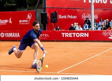 Szczecin / Poland - September 10th 2019: PEAKO Szczecin Open ATP Challenger Tour tennis tournament - final match Guido Andreozzi (ARG)