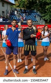Szczecin / Poland - September 10th 2019: PEAKO Szczecin Open ATP Challenger Tour tennis tournament - final Jozef Kovalik (SVK) vs Guido Andreozzi (ARG) with prizes