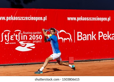 Szczecin / Poland - September 13th 2019: PEAKO Szczecin Open ATP Challenger Tour tennis tournament  -Albert Ramos-Vinolas (ESP) vs Jeremy Jahn (GER)