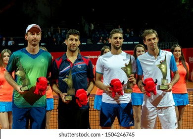 Szczecin / Poland - September 14th 2019: PEKAO Szczecin Open - Finalist of Doubles Match - Winners on right - Guido Andreozzi (ARG) and Andres Molteni (ARG), left Middlekoop (NED) and Castillo (CHI)