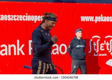 Szczecin / Poland - September 14th 2019: PEKAO Szczecin Open - Winner of Semifinal in singles men - Jozef Kovalik (SVK)