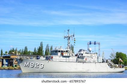 Szczecin, Poland-June 2017:NATO warships in exercises BALTOPS 17 in Szczecin, Poland