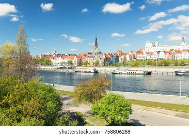 Szczecin / waterfront view of the historical center