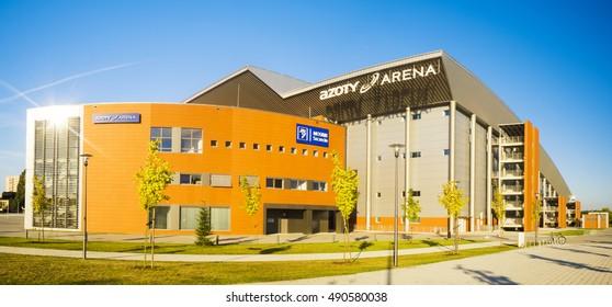 Szczecin,Poland,August 2016:building sports hall in Szczecin