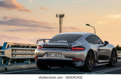 Szczecin,Poland-September 2020:Porsche Cayman on the road