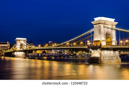 The Szechenyi Chain Bridge is a suspension bridge that spans the River Danube of Budapest, the capital of Hungary.