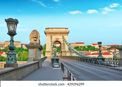 Szechenyi Chain Bridge-one of the most beautiful bridges of Budapest, Hungary