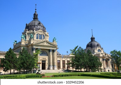 Szechenyi thermal spa in Budapest, Hungary