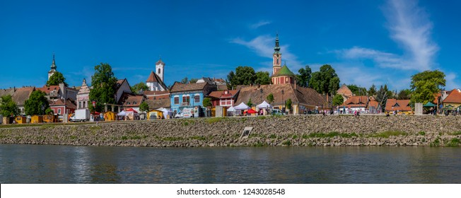 Szentendre Hungary 4 30 2018:The city view from the river at the Szentendre Danube Festival.