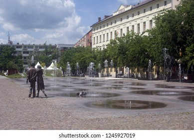 SZOLNOK, HUNGARY - MAY 15: Historical city center at 15 May, 2017 at Budapest, Hungary. Szolnok is a lovely countryside city in Hungary.