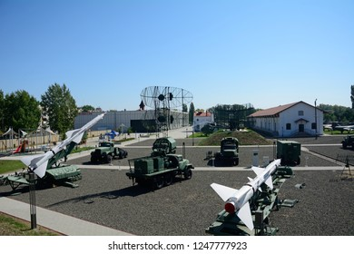 SZOLNOK, HUNGARY - MAY 15: Military park at 15 May, 2017 at Budapest, Hungary. Szolnok has one of the biggest military park in Europe.