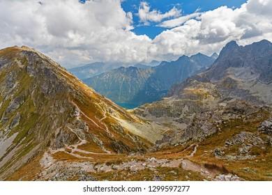 Szpiglasowa Pass, view from Szpiglasowy Peak, Tatry mountains, Poland