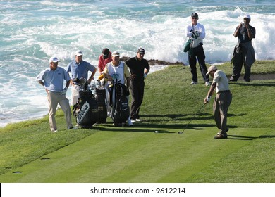 AT and T national Pro-am 2006, Pebble beach Golf links, Monterey, california, hole 8