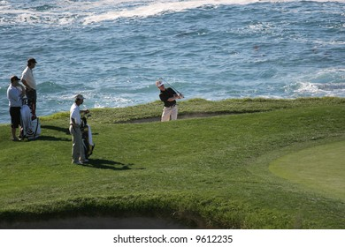 AT and T national Pro-am 2006, Pebble beach Golf links, Monterey, california, hole 7