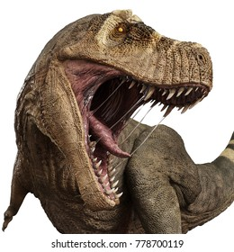 t rex angry attack 3d illustration