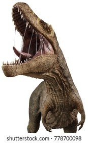 t rex calling the others 3d illustration