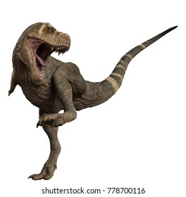 t rex getting back into action 3d illustration
