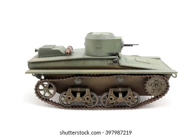 T-37A scale model side view of the main Soviet reconnaissance tank
