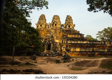 Ta Keo, potentially one of the finest temples at Angkor, but never completed.  Circa late 10th CCE early 11th C.