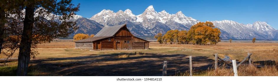 T.A. Moulton Barn within Mormon Row Historic District in Grand Teton National Park, Wyoming - The most photographed barn in America