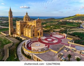 Ta Pinu Sanctuary in Gozo. Tapinu chirch. The Basilica of Ta' Pinu. Gozo island. Malta country.