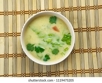 Taaka Kadi  - Buttermilk Gravy, Soup in Konkani