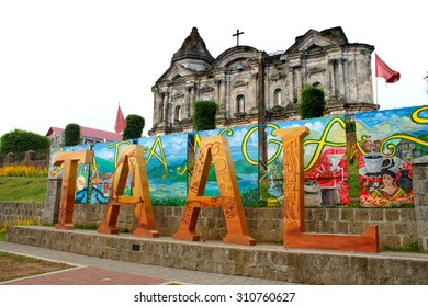 Taal, Batangas, Philippines - CIRCA June 25, 2015: Taal, a municipality in the province of Batangas in the Philippines is a popular tourist destination because of its old church and famous volcano.