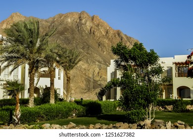 TABA, EGYPT - MAY 5, 2018: Located south of Sinai Coast, Radisson Blu Resort Taba offers luxury accommodations with well-equipped fitness center and an outdoor swimming pool.