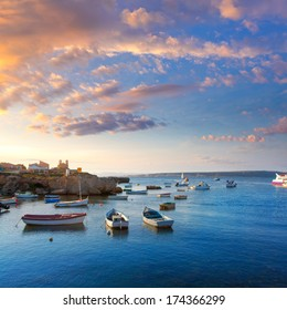 Tabarca island boats in Alicante Valencia Province of Spain