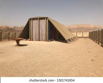 Tabernacle replica in desert