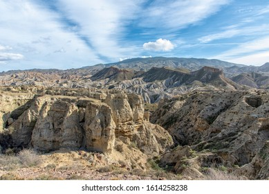 Tabernas Desert Spain Breathtaking Panorama