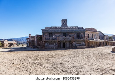 TABERNAS, SPAIN, ALMERIA - January 08, 2017 : Fort Bravo Texas Hollywood western style theme park in the Province of Almeria, Spain
