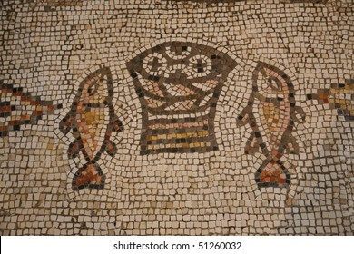Tabgha mosaic, The Church of the Multiplication of the Loaves and the Fishes