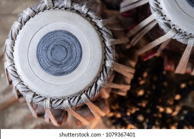 Tabla (classical drums) in an ethnic setup.