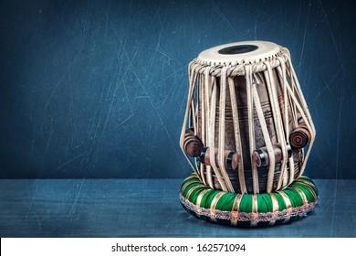 Tabla drum Indian classical music instrument close up