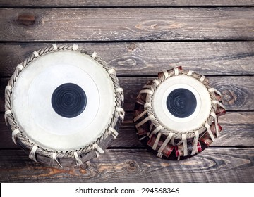 Tabla drums Indian classical music instrument close up