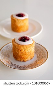 Table for 2. Runeberg's tart or cake is a Finnish traditional dessert and pastry.