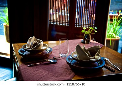 Table in Ancient Chinese House