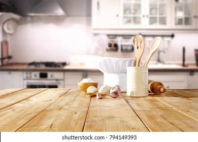 Table background and cook hat