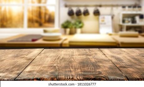 Table background of free space and autumn window in home interior  - Shutterstock ID 1811026777