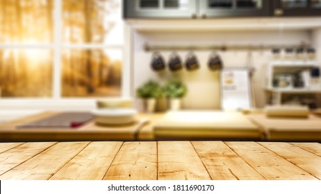 Table background of free space and window.  - Shutterstock ID 1811690170