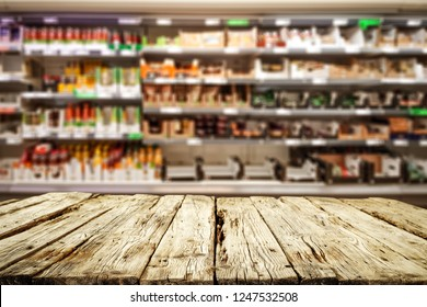 Table background of free space for your decoration and shop interior .