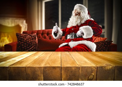 santa claus on red sofa home stock photo edit now 742834612 rh shutterstock com Images of Santa Claus Catching Images of Santa Claus Catching