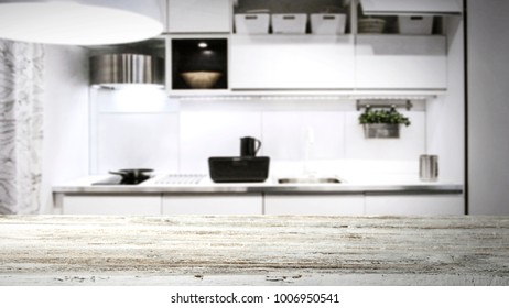 Table background in kitchen