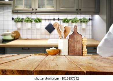 Table background and kitchen space