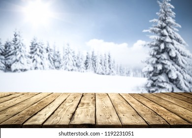 Table background and winter space