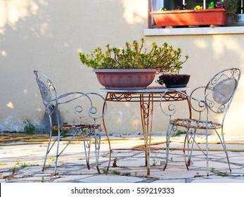 Table In The Backyard