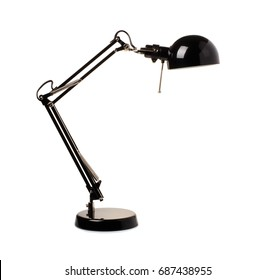 Table black lamp isolated on a white background
